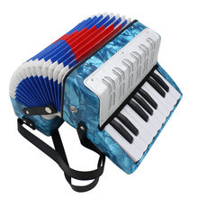 Mini małe 17-klucz 8 Bass akordeon edukacyjny Instrument muzyczny zabawki 4 kolory dla dzieci dzieci, zarówno amatorów, jak i dla początkujących prezent na Boże Narodzenie