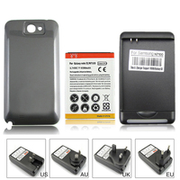 100 Guaranteed 6500mAh Extended Replacement Battery Black Back Case Wall Charger For Samsung Galaxy Note 2