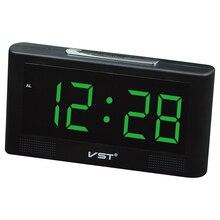 Modern New Hotel Alarm Clock  Parents AC power Table clock,LED Wall Clock , Big numbers Large Display US,EU plug digital clocks