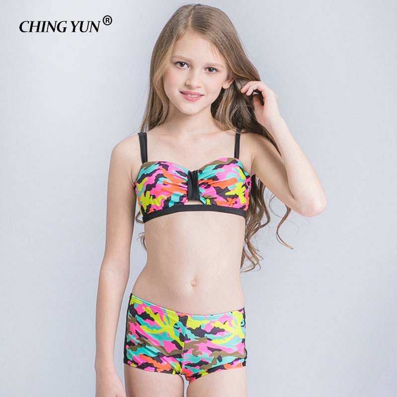 CHING YUN Bikini Children 39 s Swimwear Ball Cute Swimwear Two Piece Colorful pattern Kid Swimsuit Girls Bathing Suit beach wear in Bikinis Set from Sports amp Entertainment