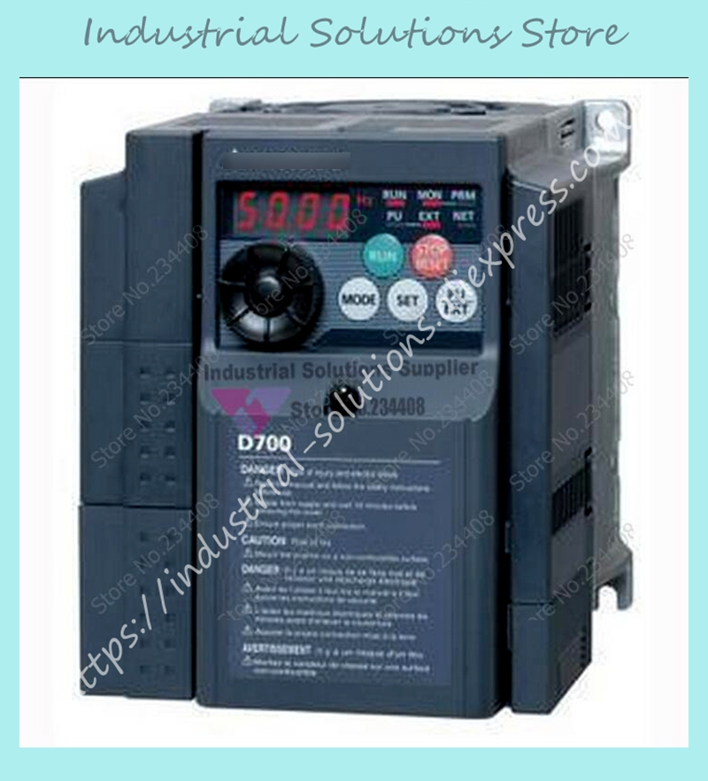 все цены на  Input 3 ph 220V Output 3 ph FR-D720-0.75K Inverter 200~240V 4.2A 0.75KW 0.2~400Hz New  онлайн