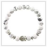 New-Fashion-Bracelet-Nature-Stone-High-Quality-Bright-White-Crystal-clear-Beads-Lave-Buddha-Head-Bracelets