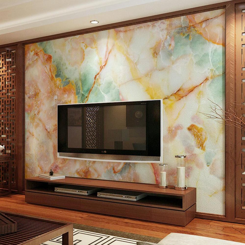 online get cheap marble contact paper aliexpress com alibaba group colorful marble contact paper 3d photo wall mural living room tv background wall paper covering murals
