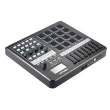 Портативная клавиатура MIDI с usb-контроллером World PANDA200, мини-контроллер MIDI Pad, 16 барабанов с usb-кабелем
