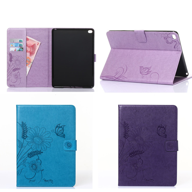 GY New Drop ShockProof PU Leather Flower Case For Apple iPad air 2 iPad 6 Cover Fashion Retro case For ipad air2 9.7 Tablet