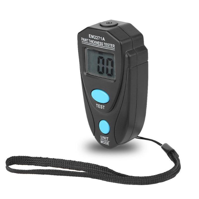 Vendita calda EM2271A Digital Car Pittura Tester di Spessore di Rivestimento Gauge w/Scheda di Regolazione