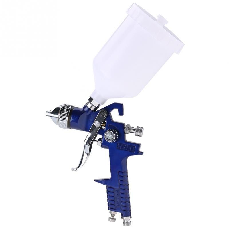 1 set 1 4mm Nozzle 600ml Gravity Type Pneumatic Spray Gun Pressure Gauge Oil nd Water