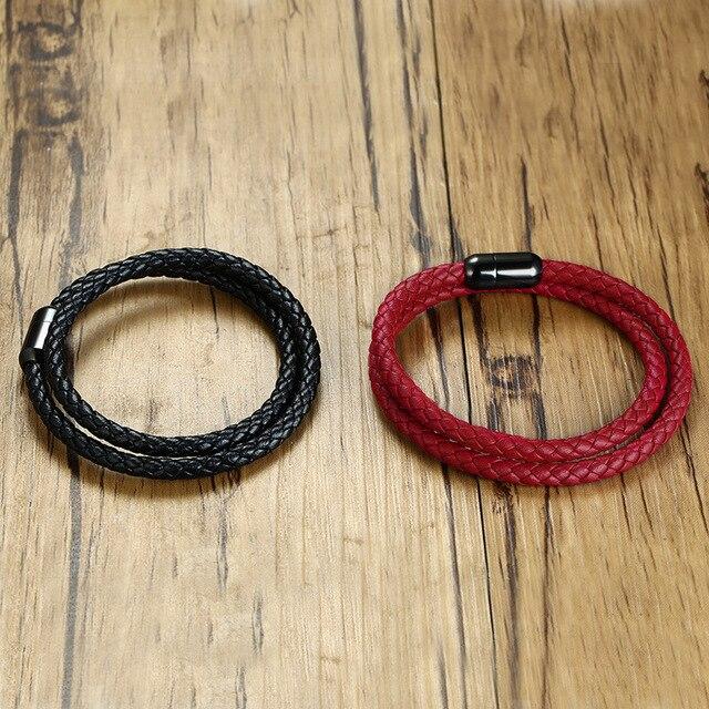 Купить женский браслет с пряжкой простой магнитный из искусственной