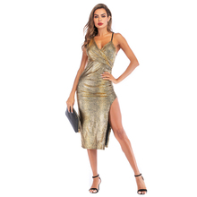 Sexy leopard print female elegant sling backless split snake dress bodycon beach holiday plus size  vestidos