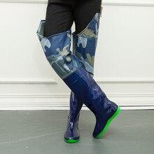 Мужчины разрушительным колено высокие сапоги рыбацкие kamuflaj камуфляж резиновые автора Bot противоскользящие ботинки на резиновой подошве галоши