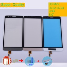 цена на G3Mini For LG G3 Mini D722 D724 G3S Touch Screen Touch Panel Sensor Digitizer Front Glass Outer Touchscreen black white gold