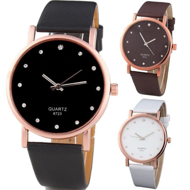 Relogio Feminino Women Watch Luxury brand Saat Quartz Watch leather strap Women