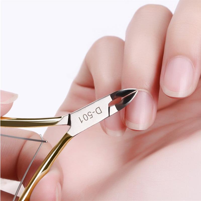 Nail Cuticle Nipper Double Spring Rostfritt stål JAW 1/4-Bästa Nail Tool för att ta bort död hud på Finger and Toe F0322