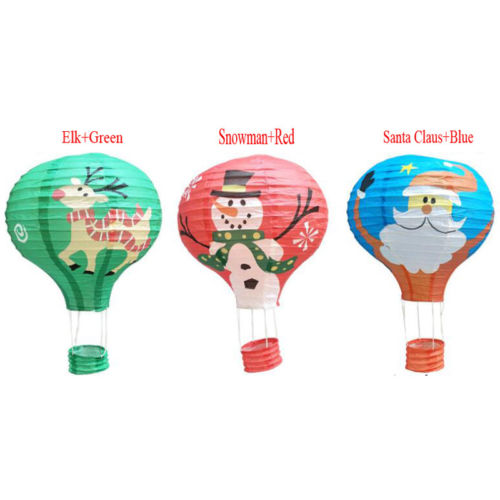 12 Hot Air Balloons Paper Lantern Birthday Party Wedding Christmas