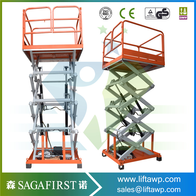 Stationary Scissor Lift Table With Controller