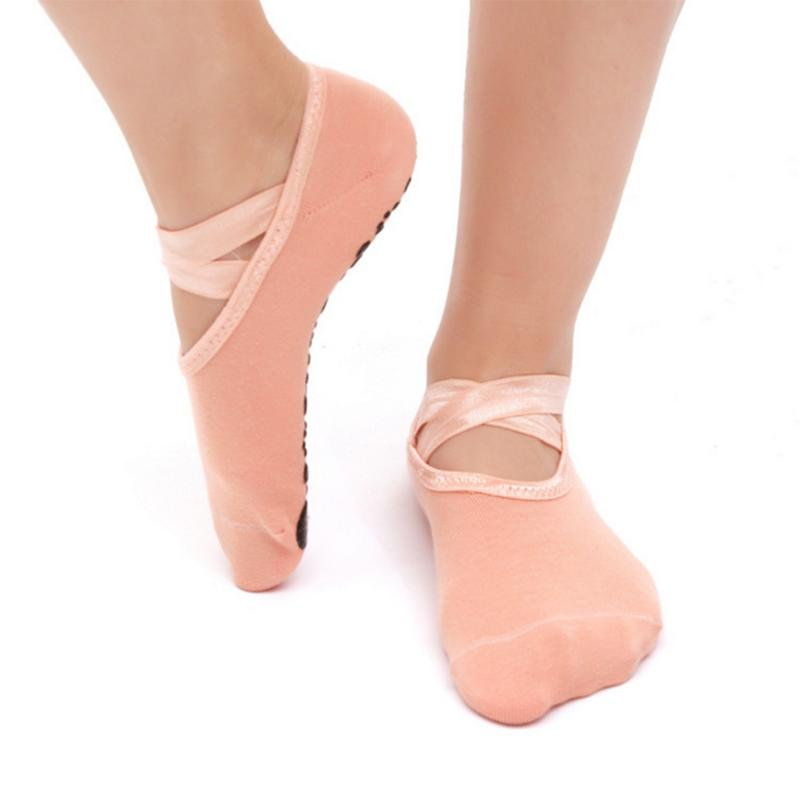 Women Yoga Socks Non Slip Skid Pilates Dance Socks Low Cut Breathable Socks Sports Fitness