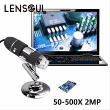 Big discount lensoul Practical Electronics 5MP USB 8 LED Digital Camera Microscope Endoscope Magnifier 50X~500X Magnification Measure