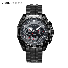 VIUIDUETURE Brand Luxury Watches Men Wristwatches Full Steel Waterproof Fashion Quartz Watch Relogio Masculino erkek kol