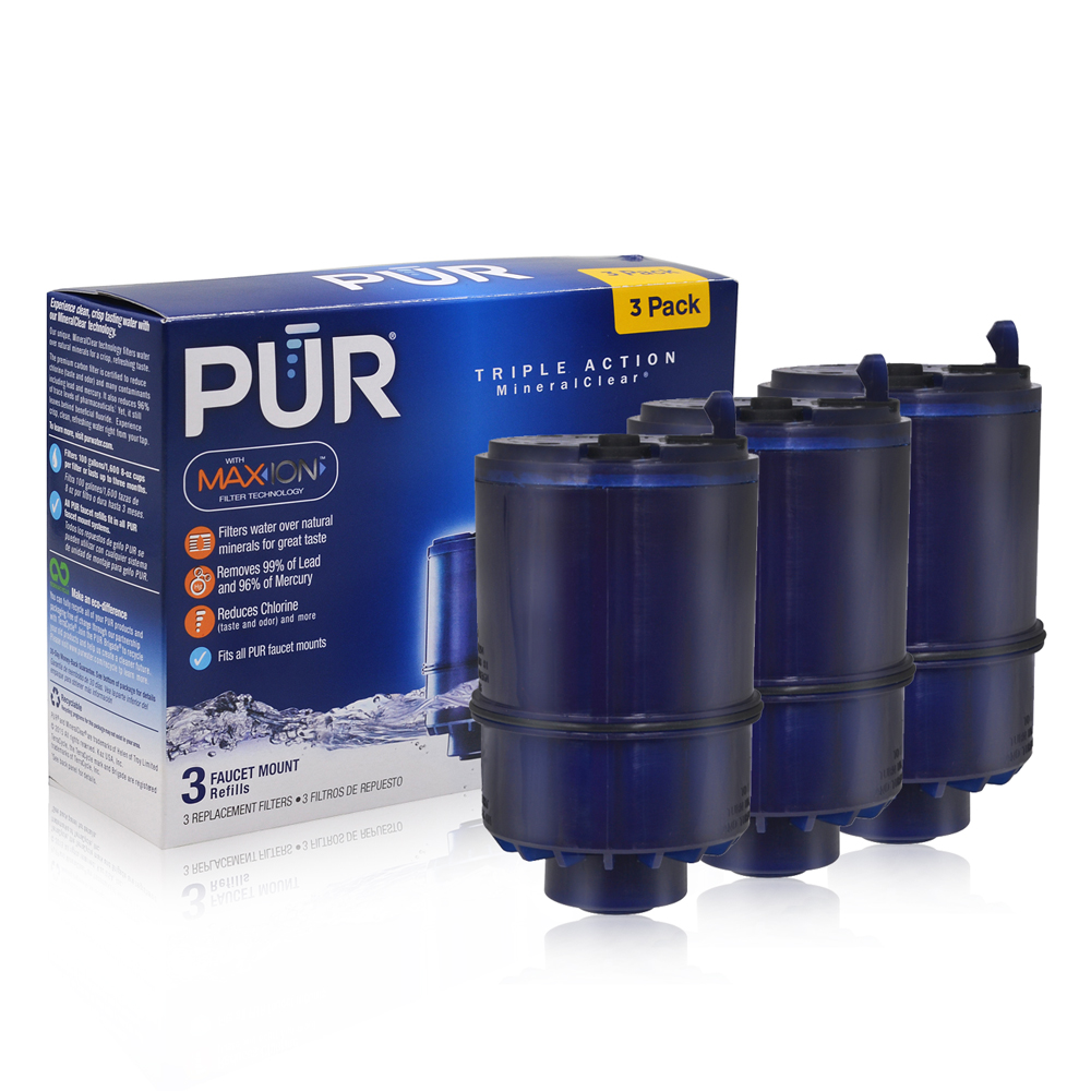 New Household Water Purifiers Activated Carbon RF-9999 PUR MineralClear Water Faucet Mount Replacement Filter Blue 3 Pcs/lot new household water purifiers activated carbon water filtration replacement filter pur water pitcher crf 950z 2 stage 3 pcs lot