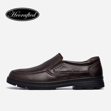 Full Grain Leather Men Leather Shoes 37-47 Hecrafted Top Quality Brand Handmade Men Flats #A82001