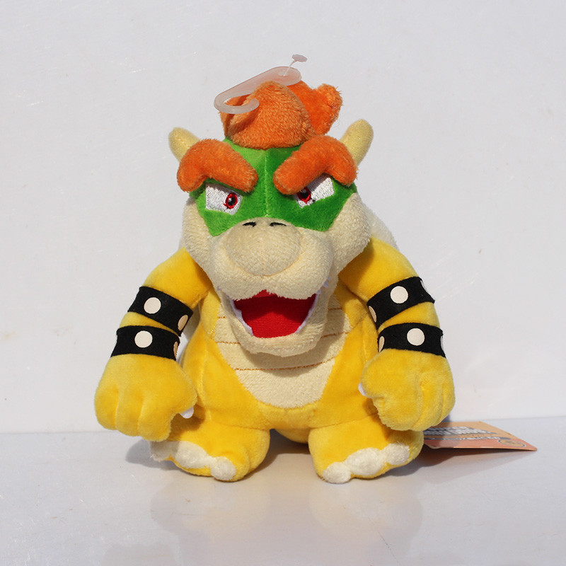 7 inches 18cm Super Mario Bros Koopa Bowser Plush Toys With Tag high quality gift for