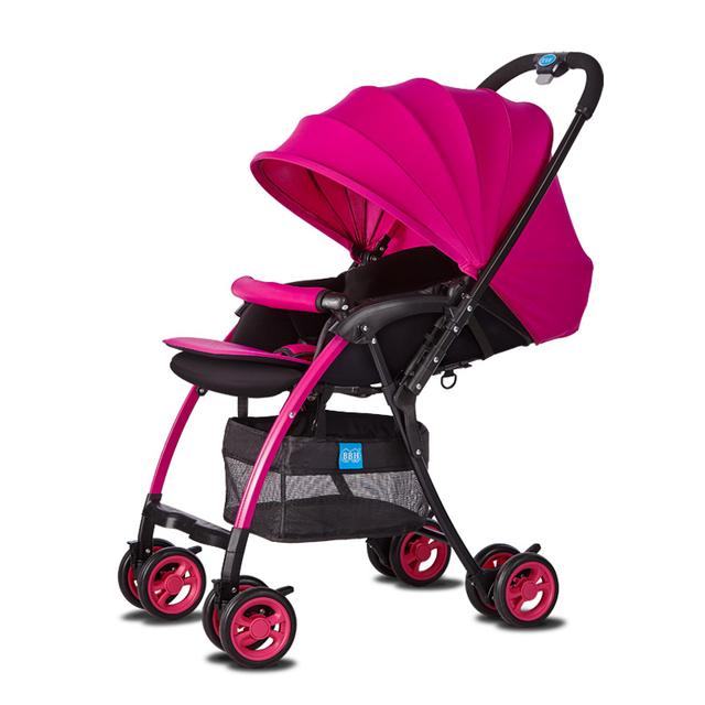 Peso Super Leve Carrinho De Bebê Pode Sentar Mentindo Carrinhos para Recém-nascidos Portátil Dobrável Fácil de Carro Do Bebê Respirável Multifuncional C01