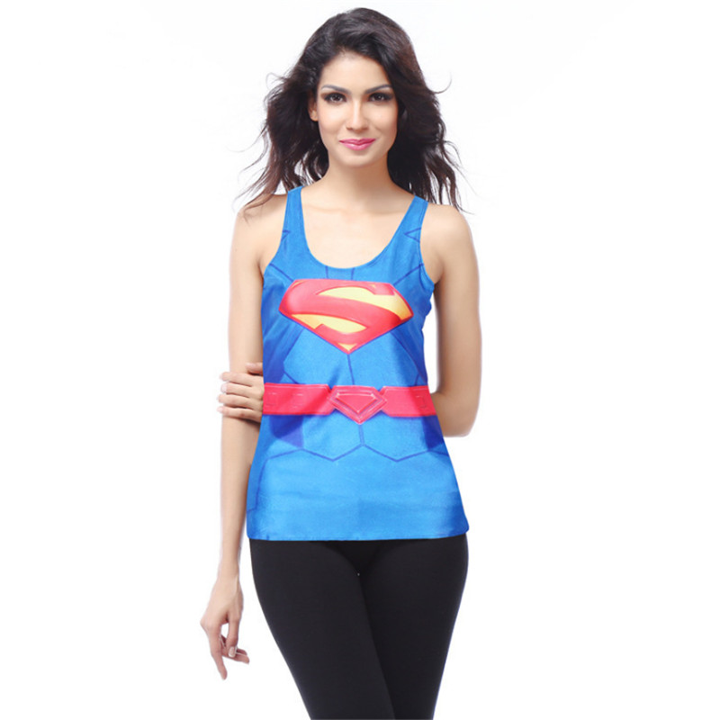 Halloween Sexy Superwoman vest Heroine Skeleton Skull Digital Printing Ghost Scary club Party Day Dead Costume Costume for women
