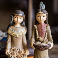 Modern Indian girl resin sculpture Southeast Asian characters statue crafts village harvest symbol home decoration accessories