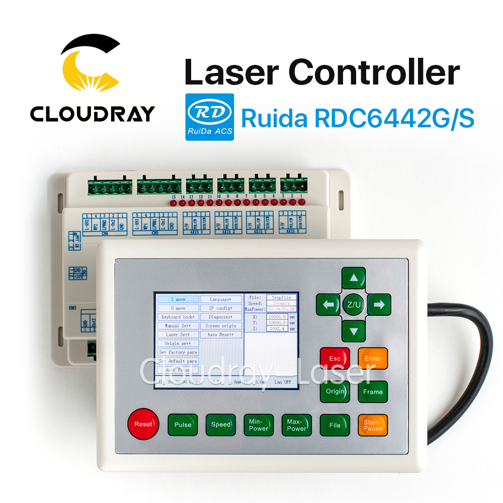 Cloudray Ruida RD RDC6442G Co2 Laser DSP Controller for Laser Engraving and Cutting Machine RDC 6442 6442G 6442S cloudray leetro operation panel pad04 e co2 laser controller system for laser engraving and cutting machine