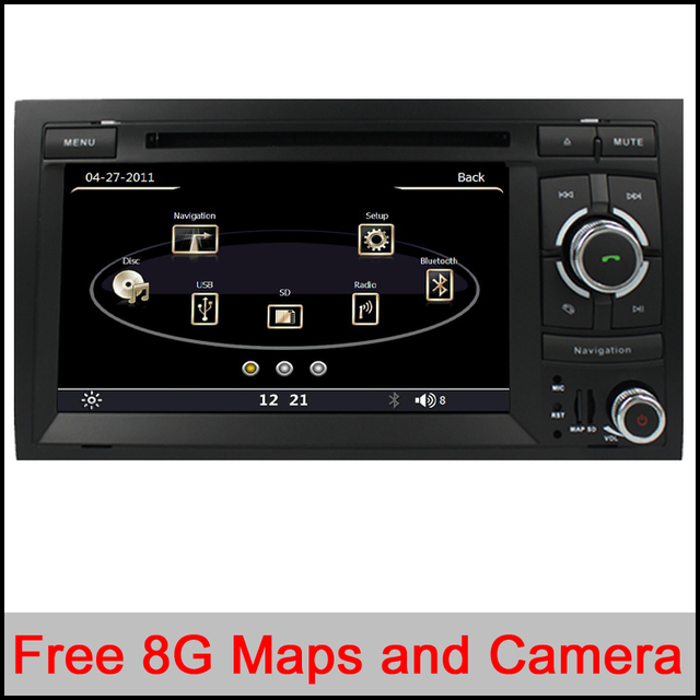 Capacitive Original UI2 Din 7 Inch Car DVD Player For Audi/A4 2002-2008 Canbus Radio GPS Navigation Free Map BT 3G USB Host Ipod