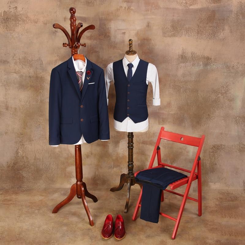 Kostume të cilësisë së mirë për burra 2019 Mashkull Blazer i - Veshje për meshkuj - Foto 2