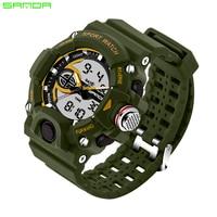 SANDA S Shock Men Sports Watches Quartz LED Digital Military Watch Fashion Brand Outdoor Wristwatches Army