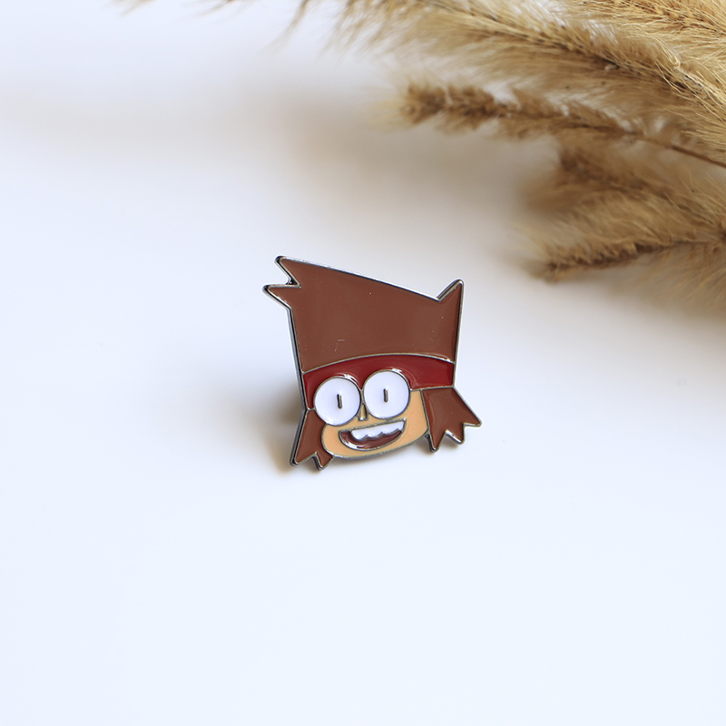 Cartoon Boy Brooches Ok.k Enamel Pin For Boys Girls Lapel Pin Hat/bag Pins Denim Jacket Women Brooch Badge Sc4523 Pure And Mild Flavor Home & Garden