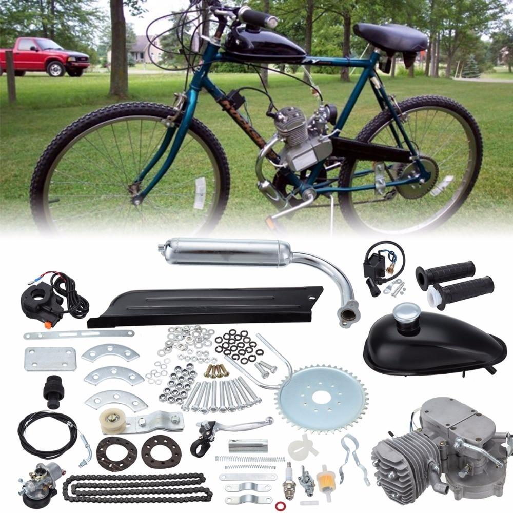 (Navio da UE) 2-Stroke Gasolina Motor A Gasolina 80cc Bicicleta Do Motor Kit Bicicleta Motor A Gasolina Air-Cooling