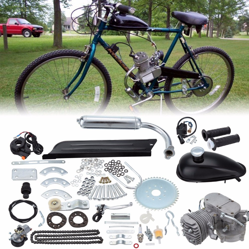 (Ship from Germany) 80cc 2-Stroke Petrol Gas Engine Motor Bicycle Kit Bike Petrol Engine Air-Cooling