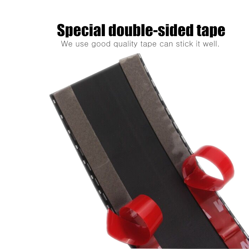 Carcardo 3D Carbon Fiber Protector Strip Car Bumper Strip Protector Chrome Door Sill Sticker Rubber Exterior Accessories