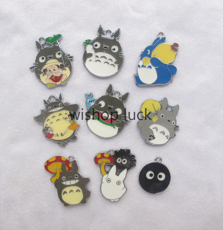 NEW 20 pcs lovely Cartoon Japanese anime  My neighbor totoro Metal Charms  Pendants Jewelry Making Party Gifts  YX-108