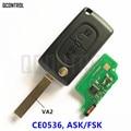 Пульт дистанционного управления для автомобиля, 433 МГц, подходит для CITROEN C1 C2 C3 C4 C5 Berlingo; Picasso ID46 (CE0536 ASK/FSK, 2 кнопки VA2)