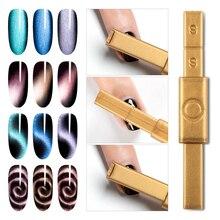RBAN гель для ногтей кошачий глаз Магнитная палочка сильный магнит доска для 3D эффект кошачьих глаз волшебный УФ гель лак для рисования Инструменты для дизайна ногтей