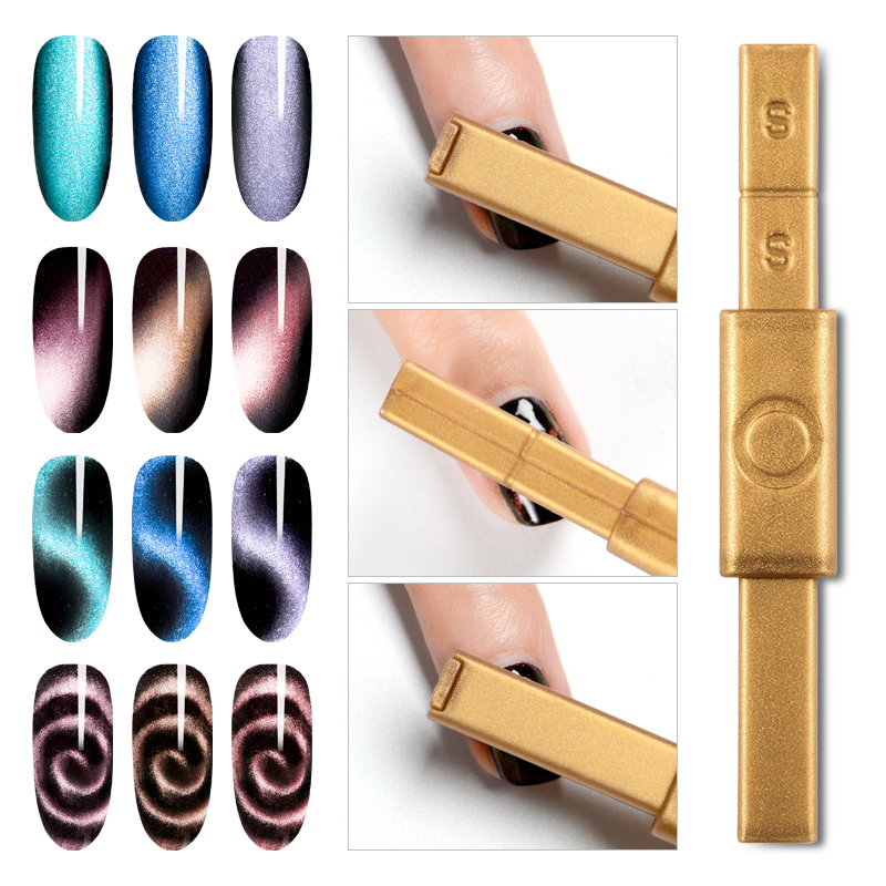 RBAN NAIL Cat Eye Gel Magnetic Stick Strong Magnet Board For 3D Cat Eye Effect Magic UV Gel Polish Painting Nail Art Tools