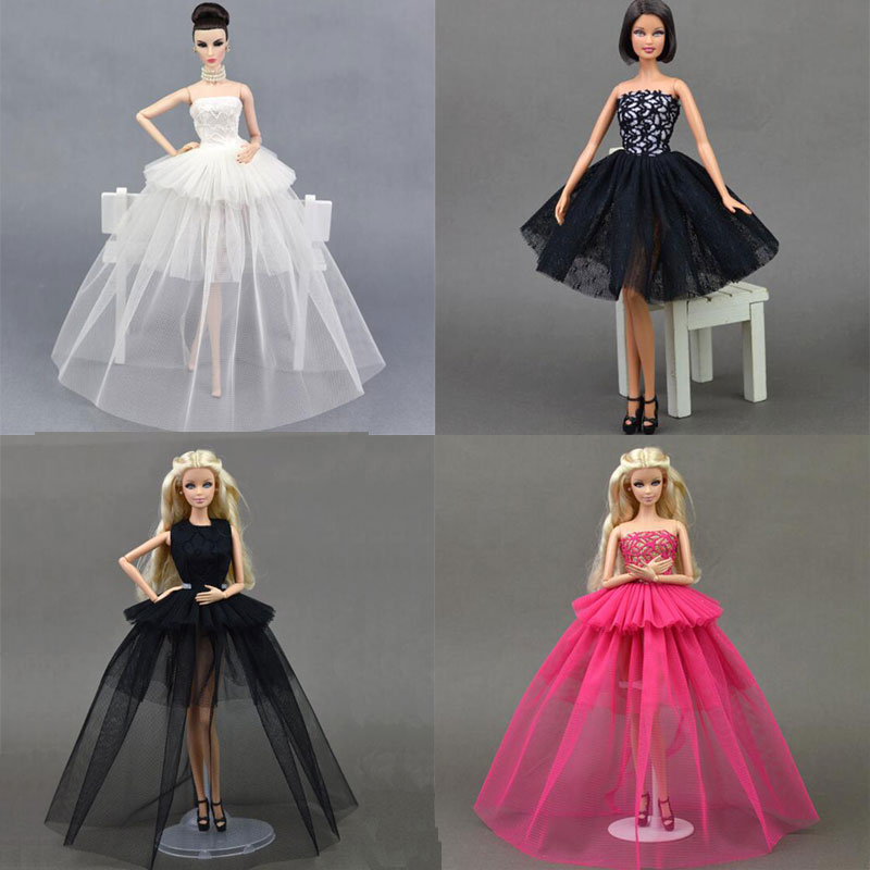 CXZYKING Fashion Doll Dress Costume Elegant Lady Wedding Dress For Barbie Doll Dress Clothes For 1/6 BJD Doll Dresses Gift Toy