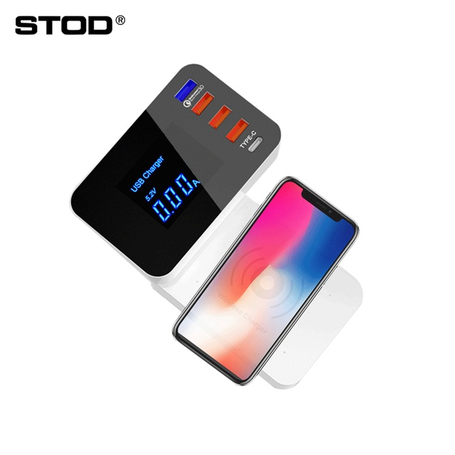 STOD Smart USB Charger Station Quick Charge 3.0&Wireless Fast Charging&Type C For iPhone iPad Samsung Huawei Nexus Mi Adapter