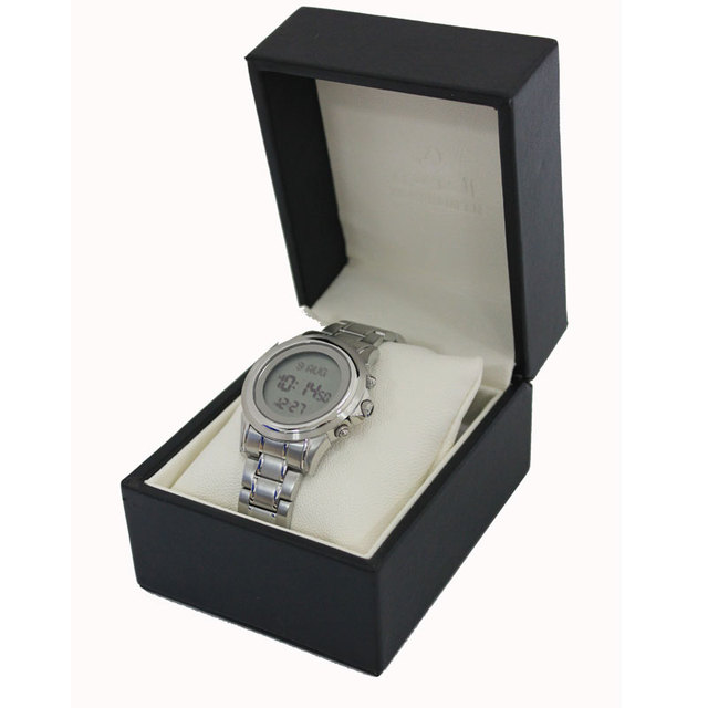 AL-HARAMEEN  stock factory directly sell Azan muslim prayer watch  muslim wriste watch islamic gift   Silver