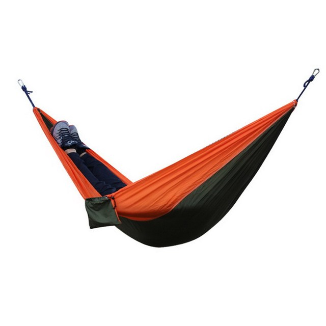 1pc 2016 New Portable  6colors 2 people Parachute Nylon Fabric Travel Camping Hammock Outdoor Camping Furniture