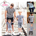 Family Matching Clothes Summer Bear Printing Short Sleeve T-shirt Family Look Mother Father Baby Family Look Matching Clothes
