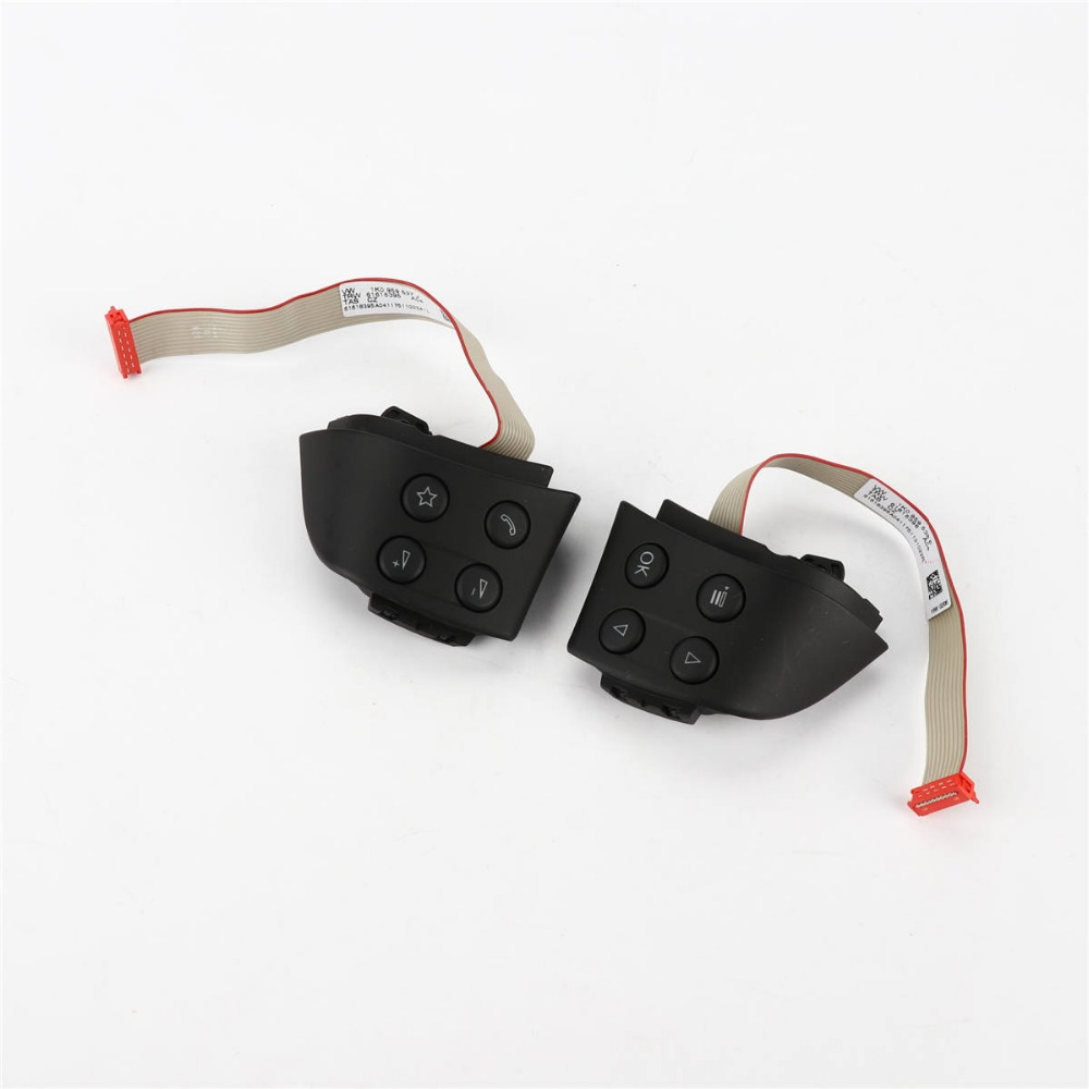 TAIHONGYU Pair Left and Right MFSW Steering Wheel Control Buttons for VW Golf Jetta MK5 Passat B6 1K0 959 537 / 538
