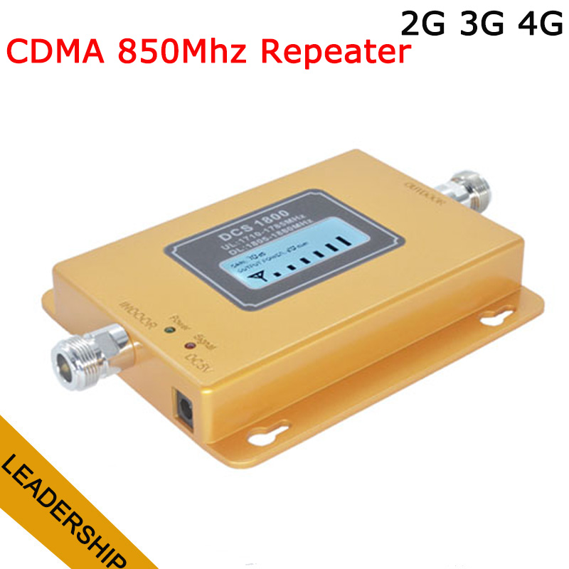 2G 3G 4G CDMA GSM 850 Cellular Signal Repeater CDMA 850 Mhz Mobile Signal Amplifier 70dB GSM 850 Cell Phone Booster
