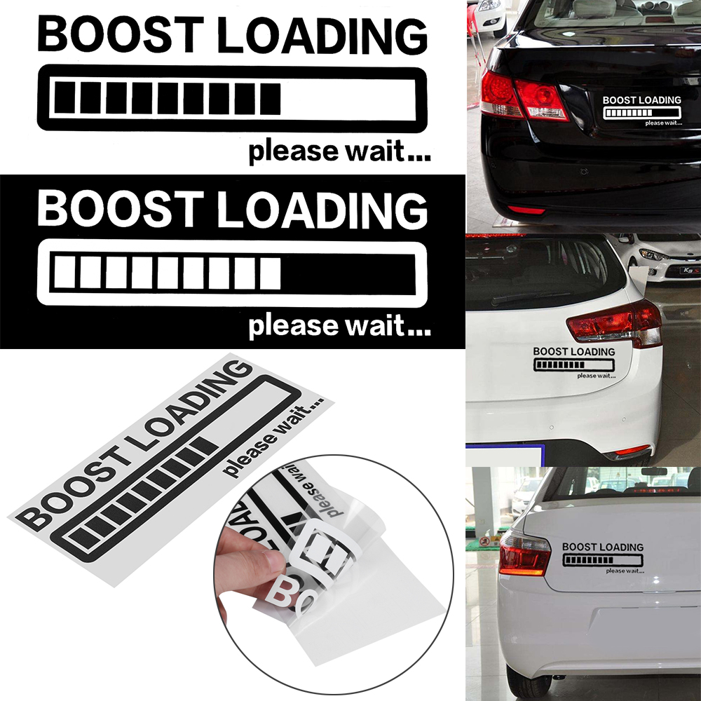 BOOST LOADING Please Wait...Funny Car Sticker Vinyl Decal for JDM Turbo Diesel