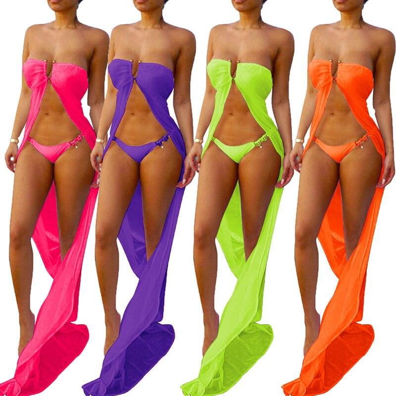 3d46220330 Womens Bikini Swimwear Cover Up Kaftan Beach Sarong Kimono Maxi Dress Wrap  Skirt