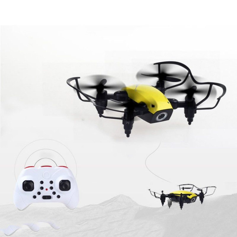 Foldable RC Airplane Mini Drone Pocket Drone <font><b>Micro</b></font> Drone RC Airplane With HD Camera Altitude Hold Wifi Real-Time Transfer image